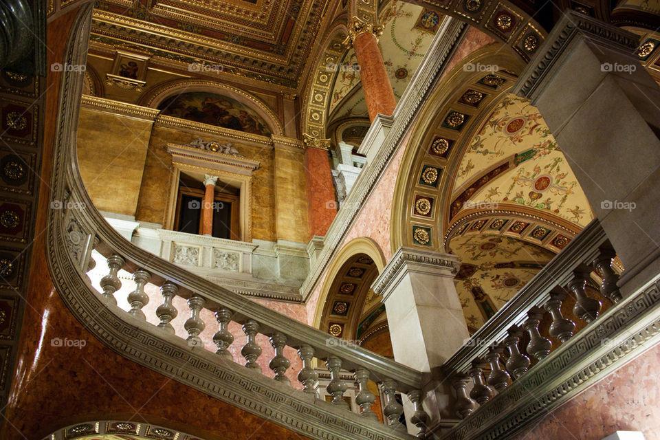 Low angle view of a opera house