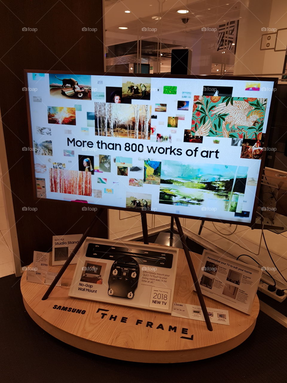 Samsung The Frame TV with more than 800 works of art display at Peter Jones Sloane square Chelsea King's road