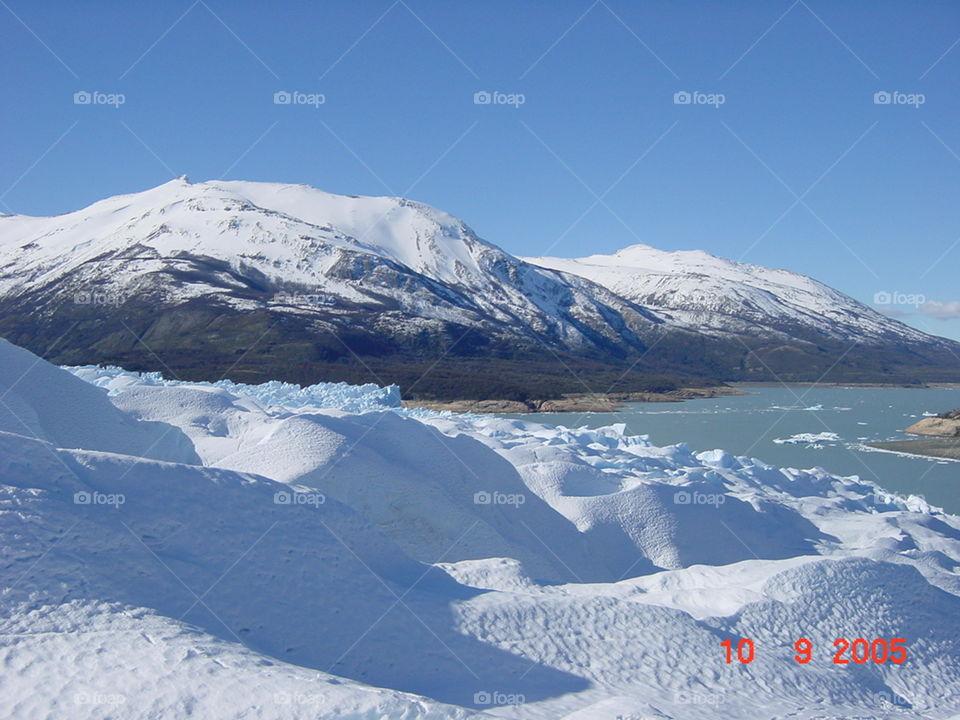 on the Glacier. perito moreno. patagonia. argentina