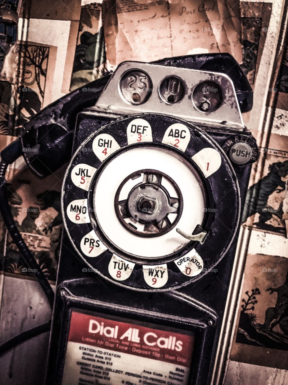Once upon a time phones required small change to place a call. Weird!