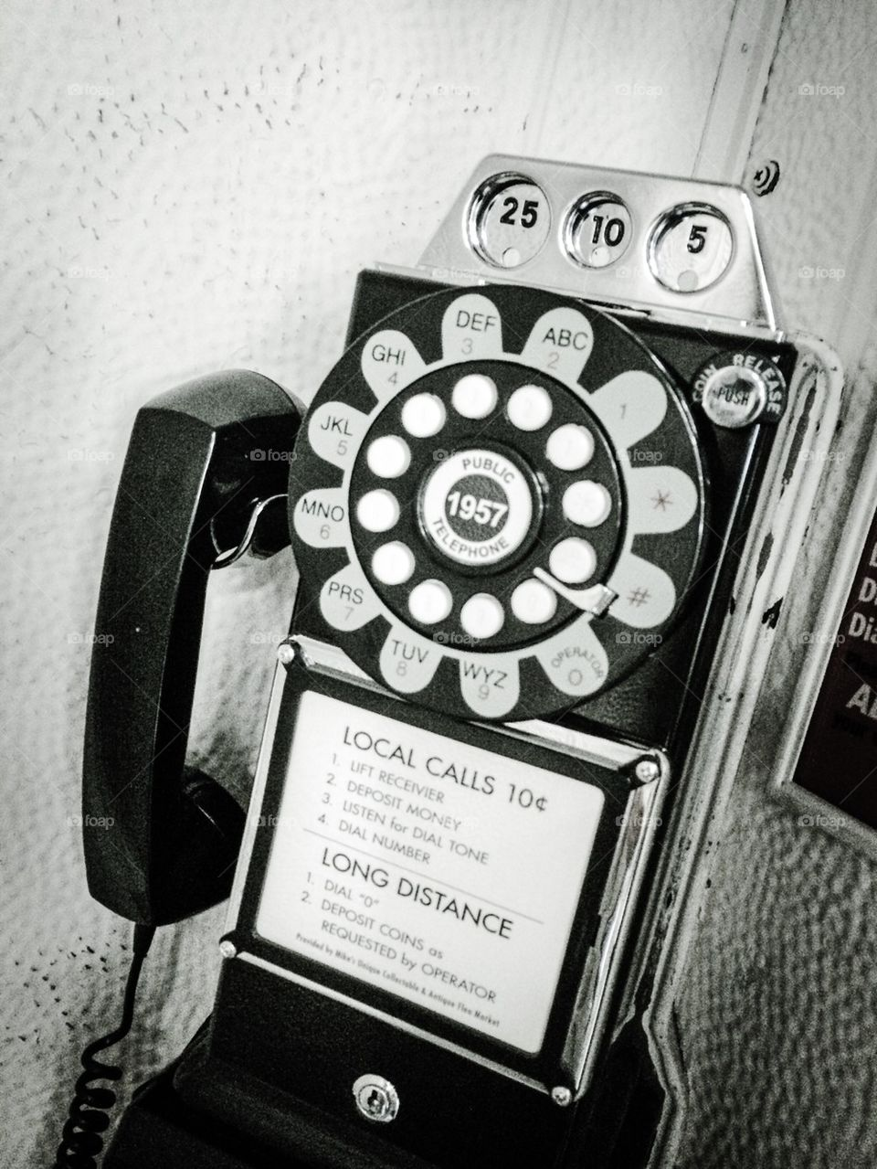 Old Rotary Pay Phone