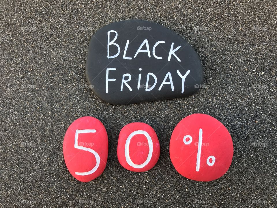 Black Friday, 50 per cent discount