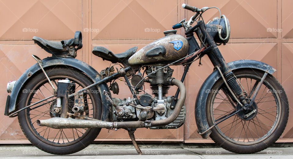 Old vintage motorcycle NSU OSL 251 from 1951