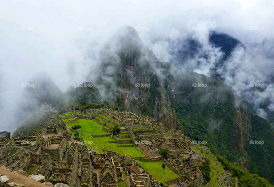 Machu Picchu from the guard room, truly among the clouds