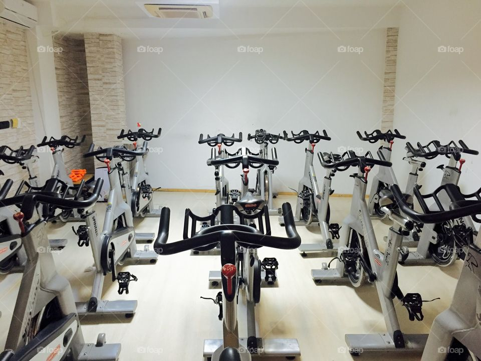 Indoor spinning bicycles