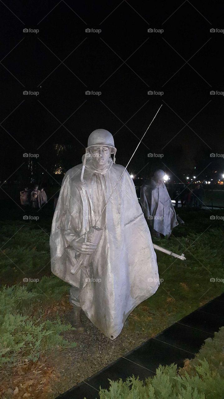 Korean War Memorial Washington DC