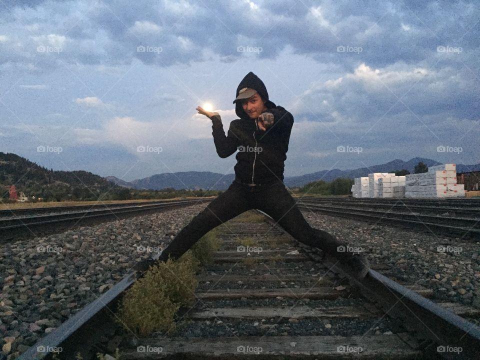Railway, Locomotive, One, Adult, People