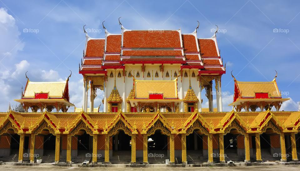 Chapel, Pan Thai Nor Ra Sing temle Tjailand.