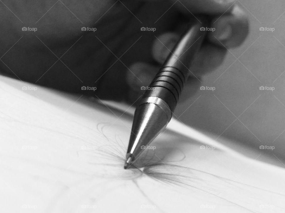 The mechanical pencil and the master