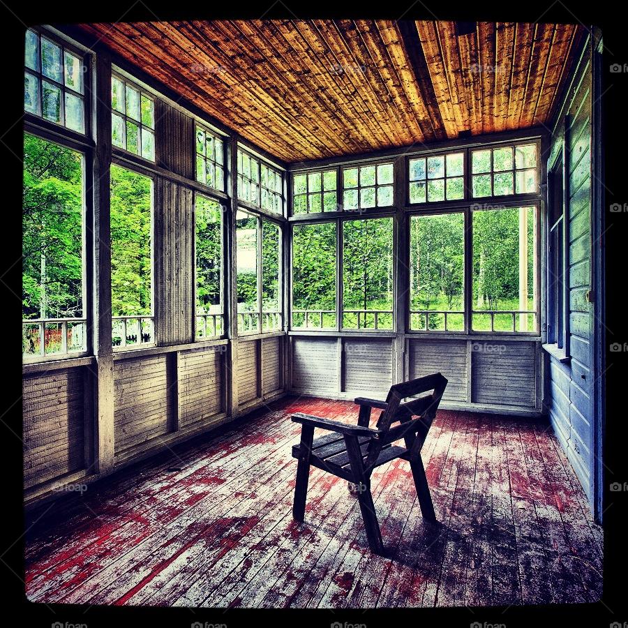 sweden abandoned veranda summer house by hanswessberg