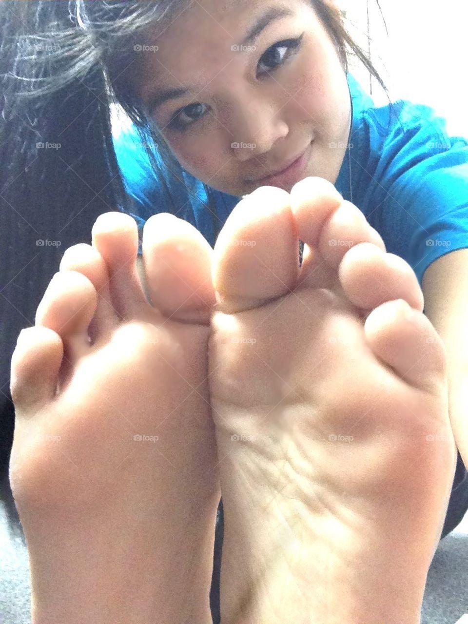 foap: cute asian feet stock photoxoxocarsonxoxo