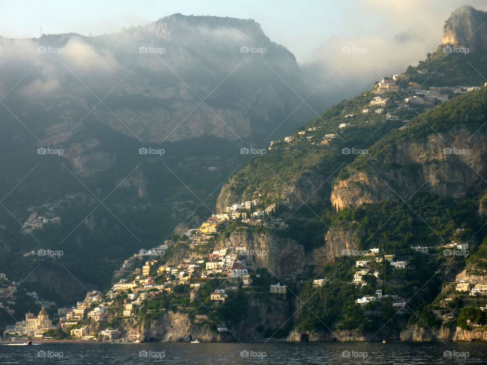 Positano PM. Returning to Positano from Amalfi as the sun sets on another beautiful Italian October day...