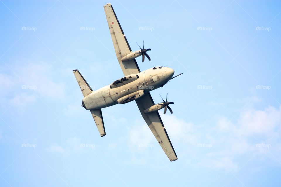 Italian military airplane during an airshow