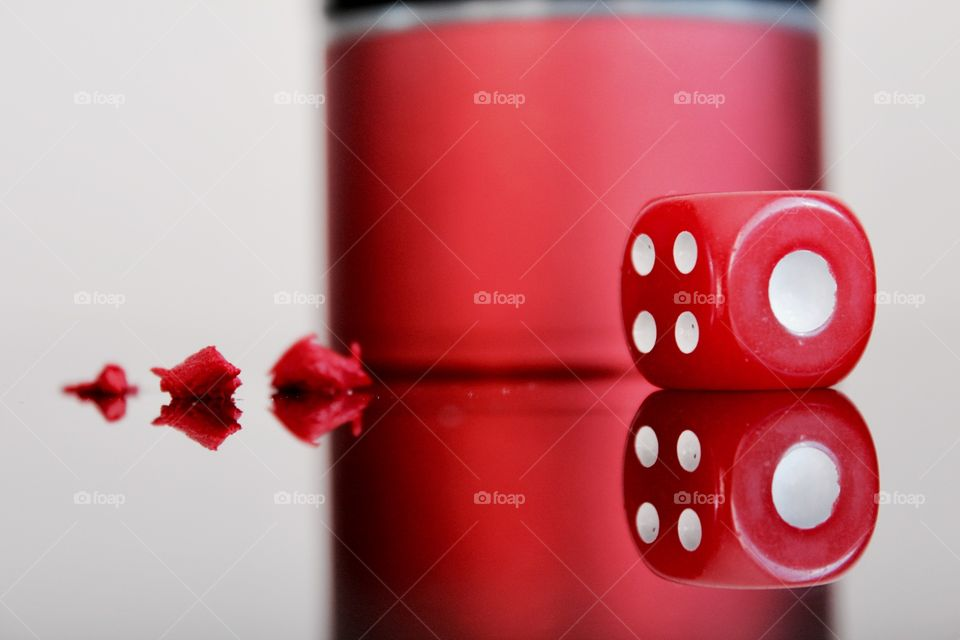 Close-up of red dice