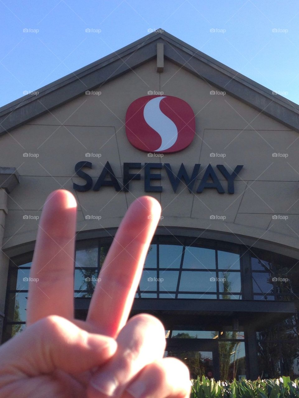 Chilling at Safeway