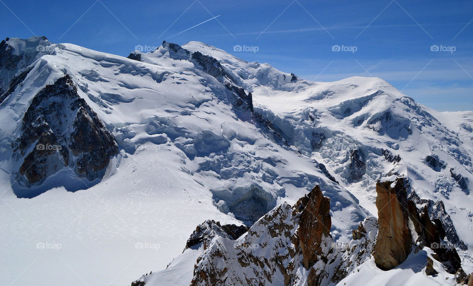 Mont Blanc from the aiguille du midi.