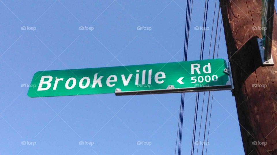 Brookeville Rd sign