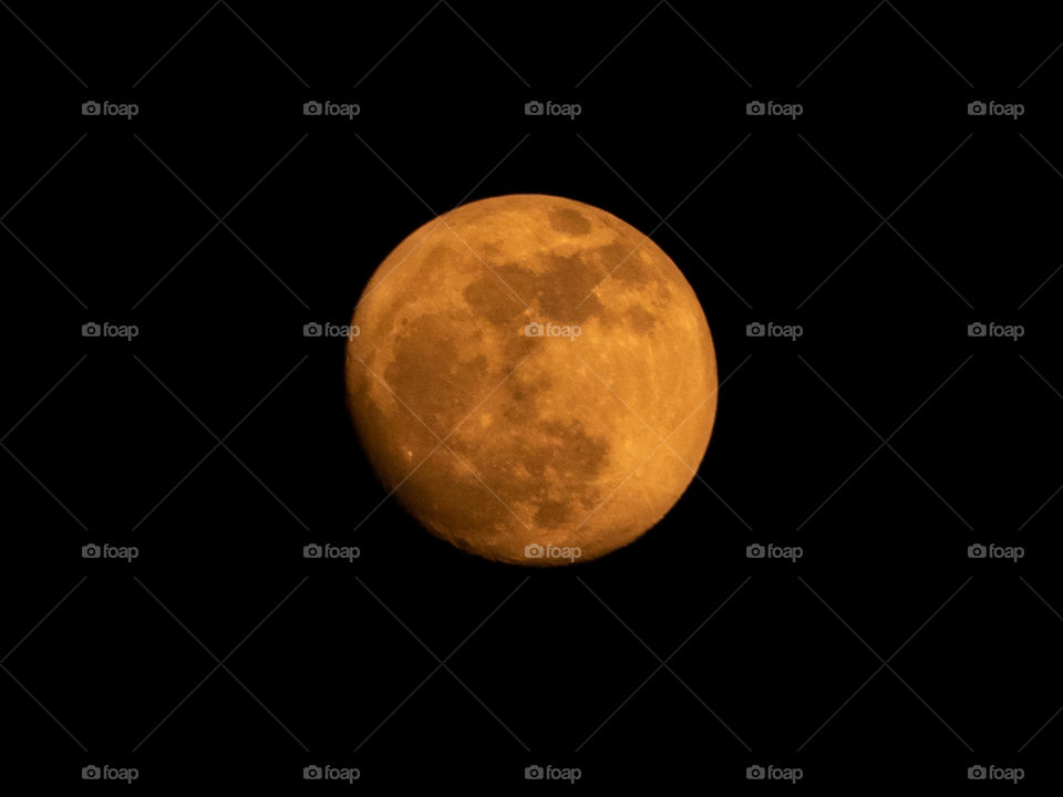 Beautiful colour of moon during ellipse