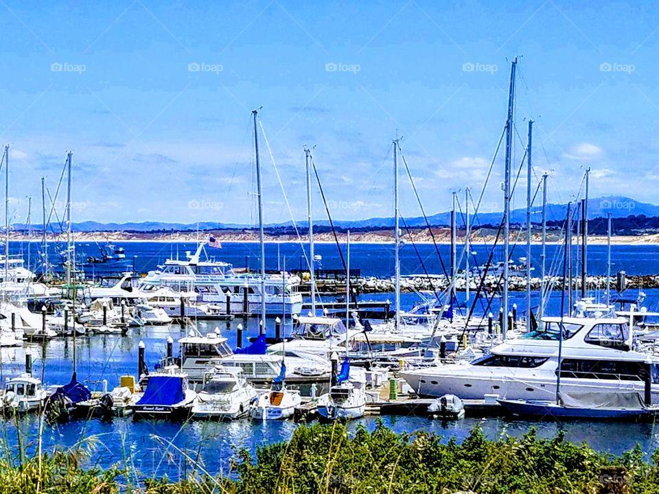 Old Fisherman's Wharf Monterey Harbor CA