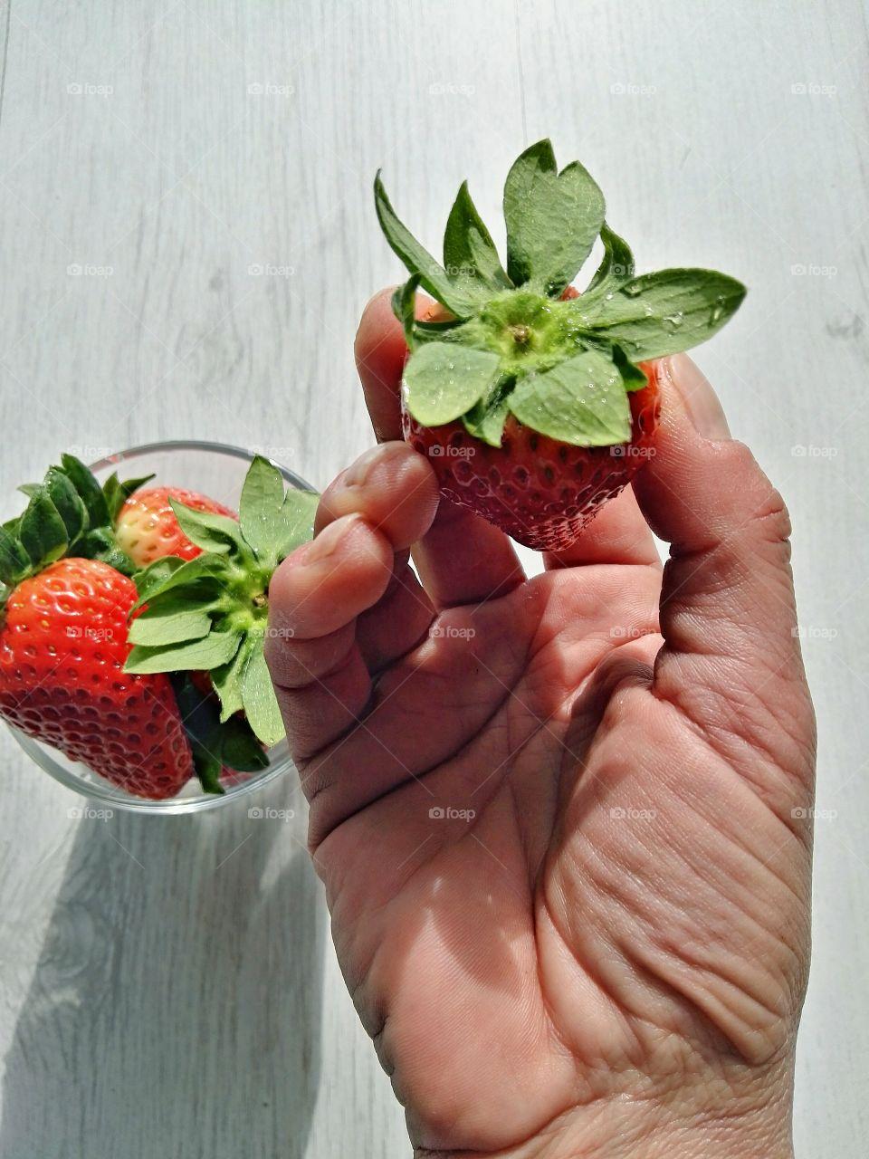 frish red strawberries