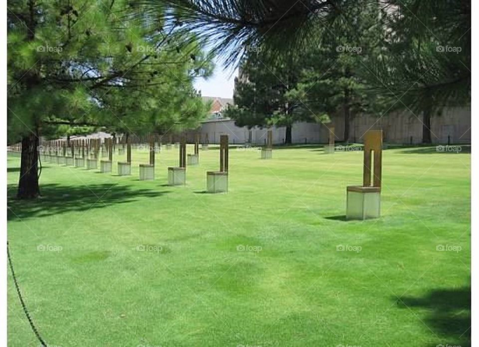 OKC Memorial chairs
