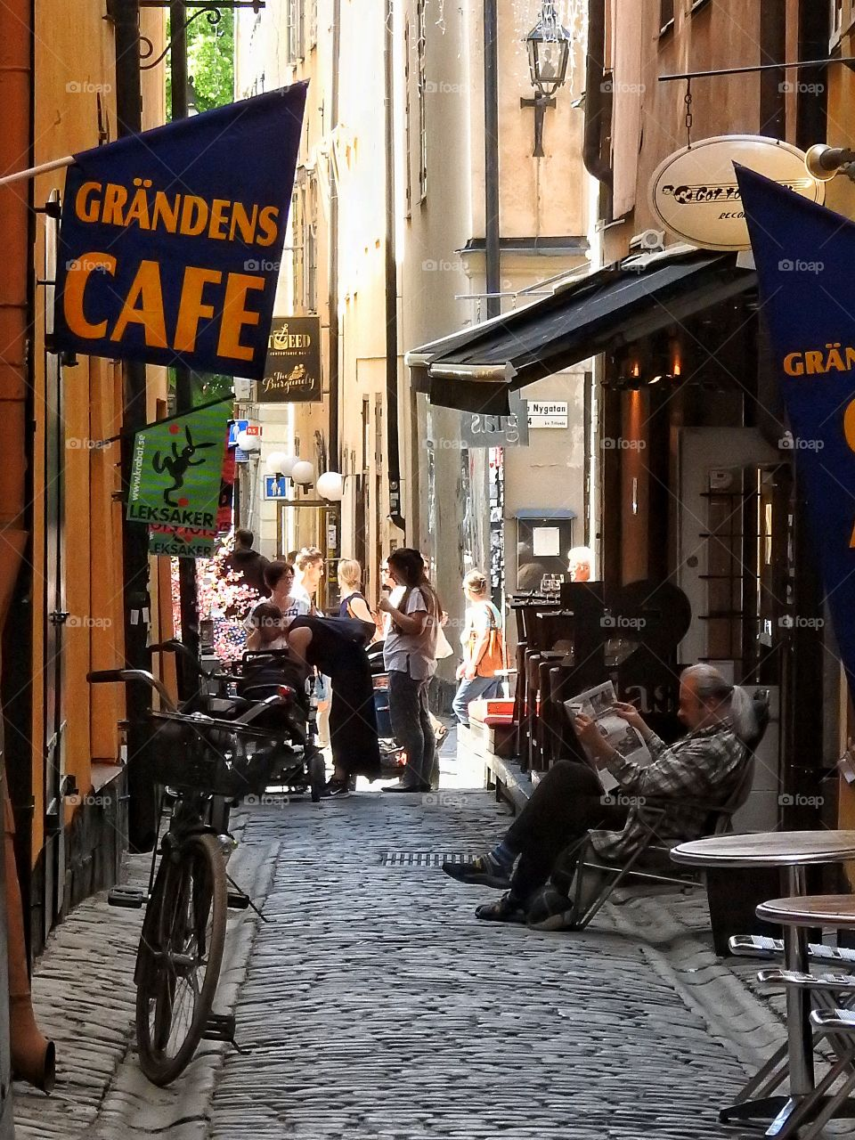 Chilling in Gamla Stan