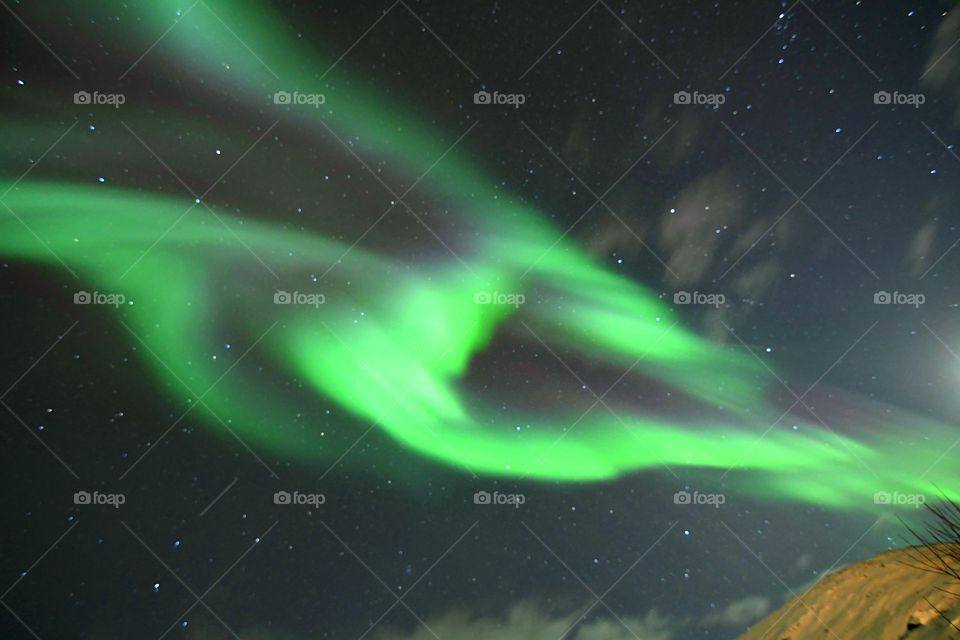 Amazing dancing Northern Lights