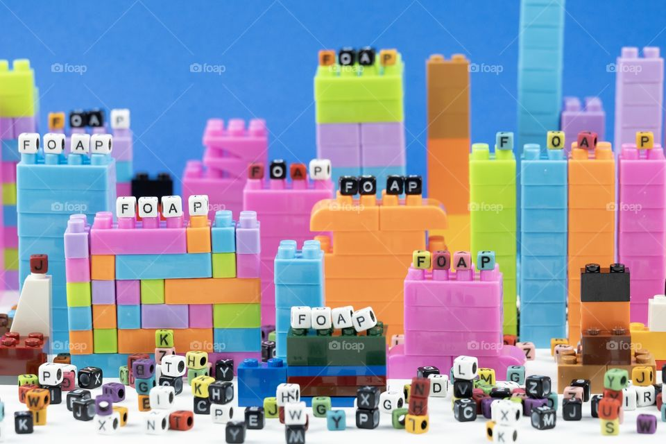 Colorful Rectangle model built to foap city