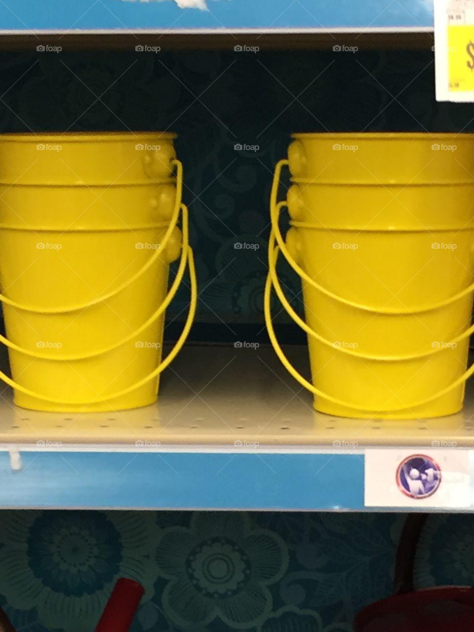 Yellow pails