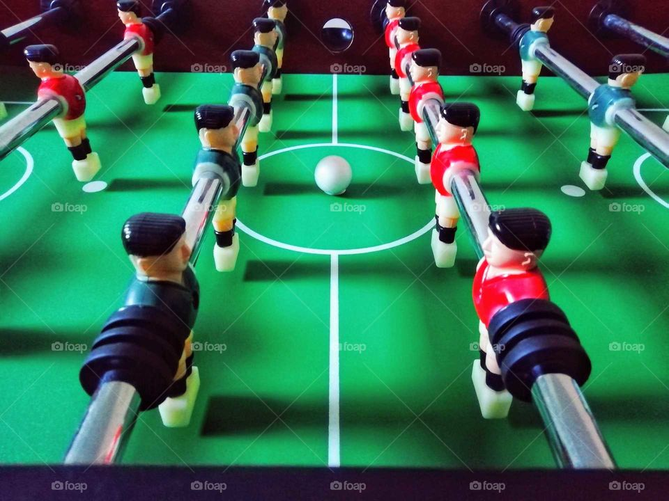 Staying in shape with table football