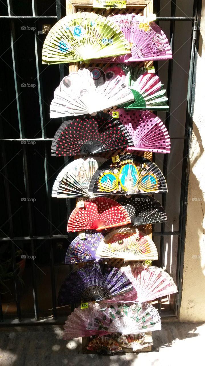 abanicos. Sevilla. Spain