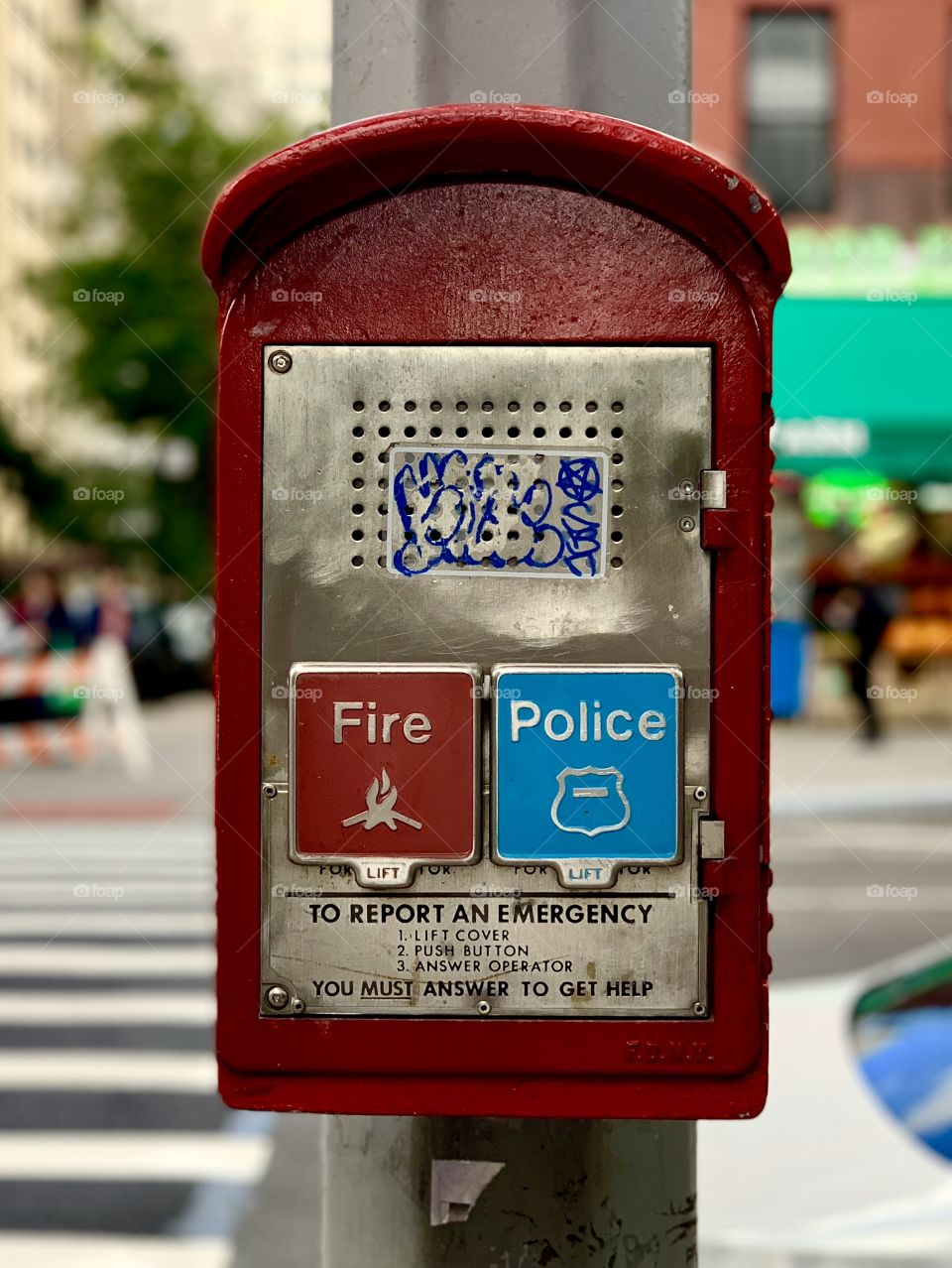 These Fire and Police call stations are unique to New York City. They are scattered across the city adding a special look.