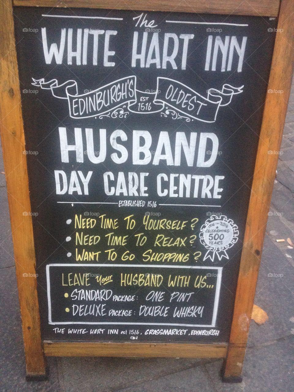 Ladies shopping solution: Husband Day Care Centre - Edinburgh