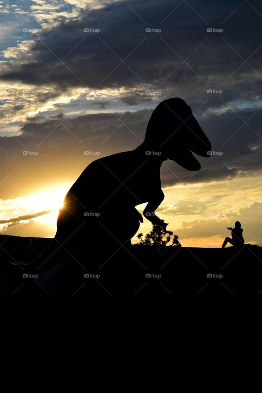 Sunset with a Dinosaur