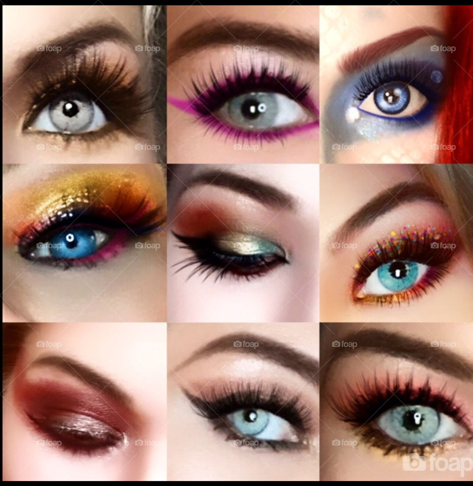 Another shot of eyeshadow examples that I was proud of & thought the colors were perfect for this particular color mission.  Makeup is art.