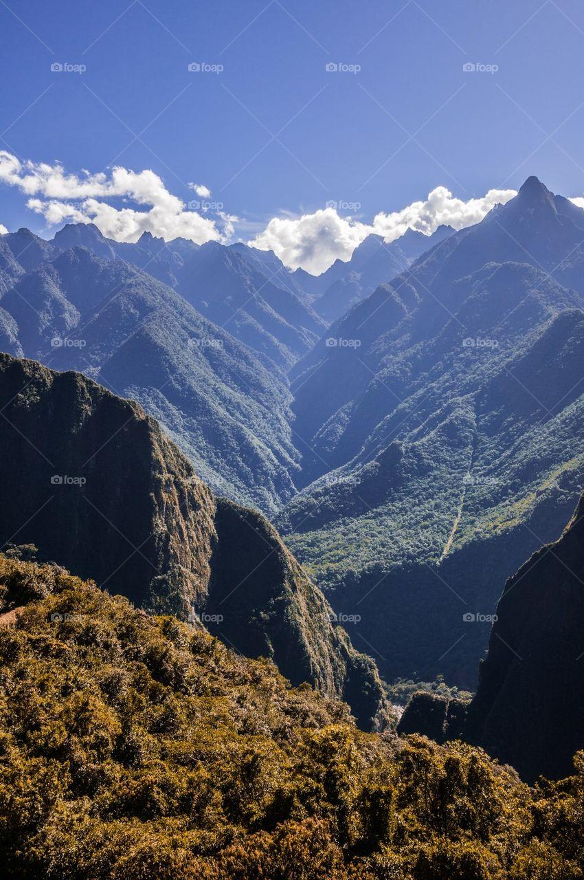 Landscape view of mountain range