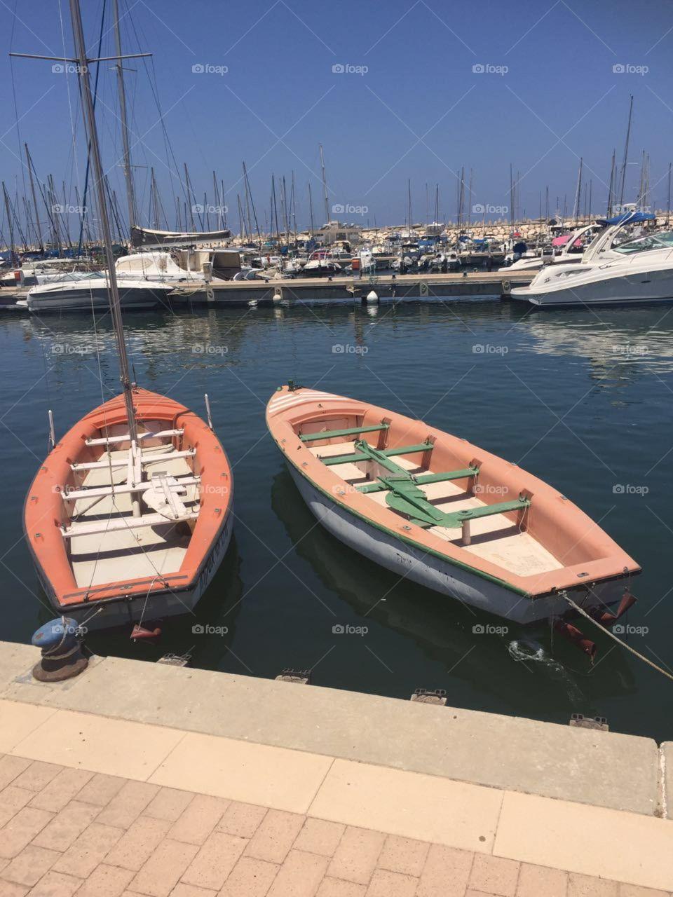 Sail boats at Marine school
