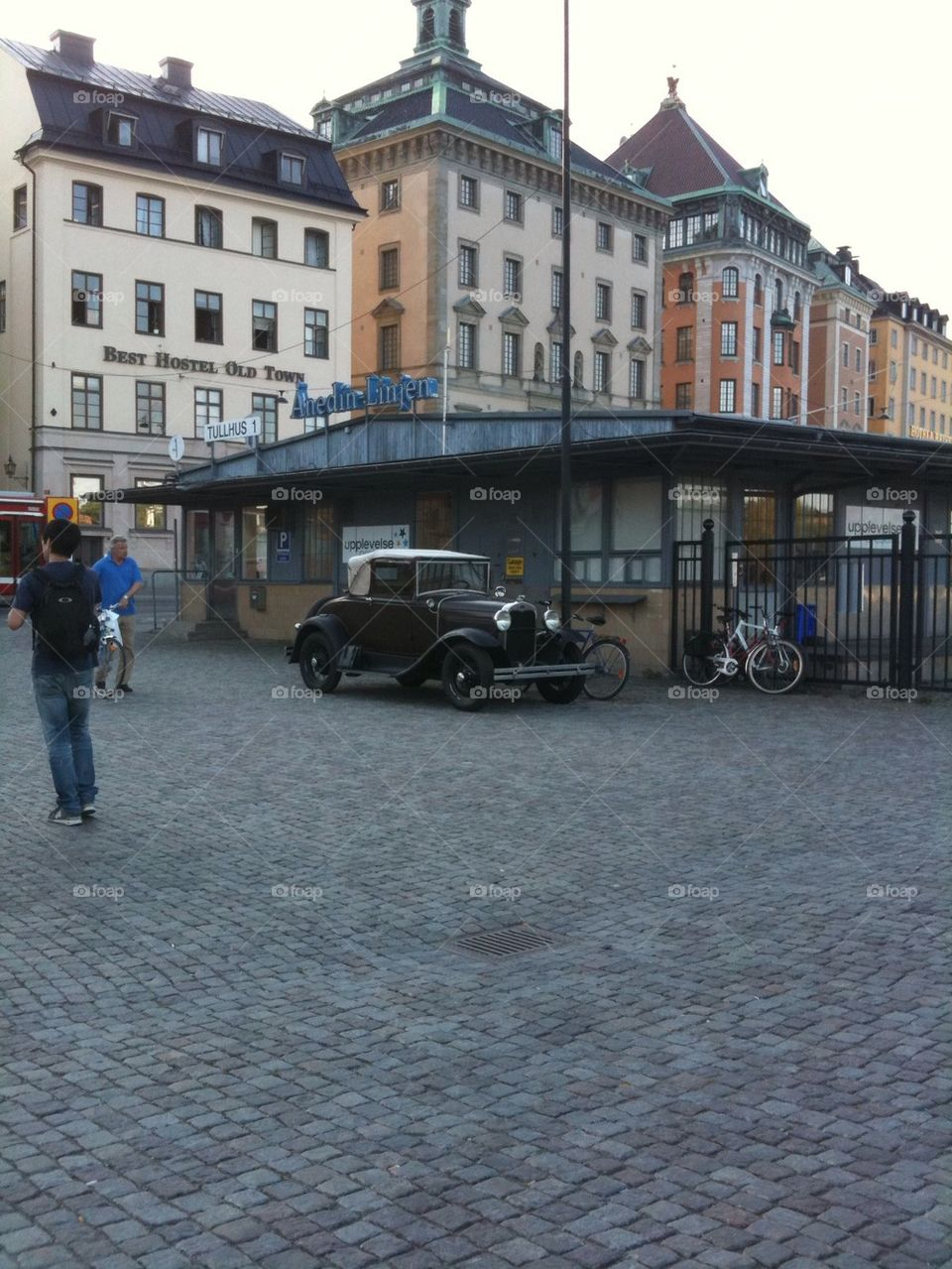 The old car in old town
