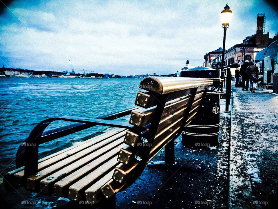 A lonely Bench in Stockhom