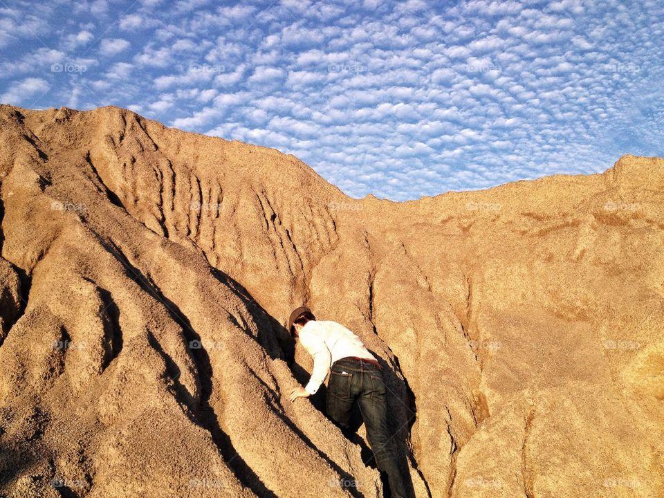 Climbing the gravel