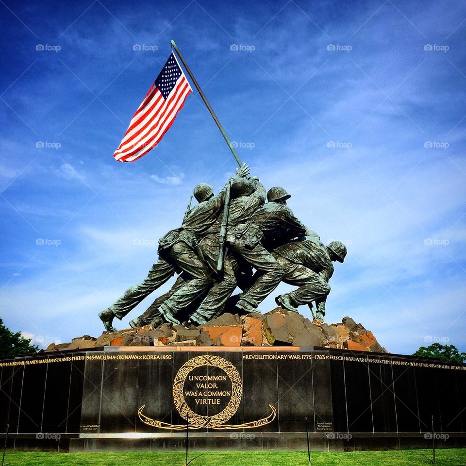 The United States Marine Corps War Memorial