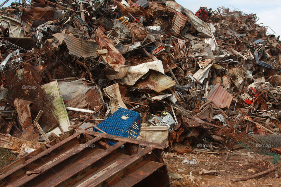 scrap metal recycling (junk yard)