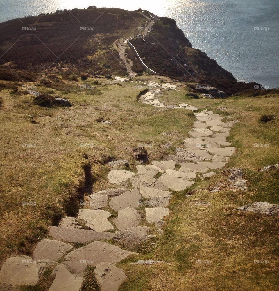 Stone path. The stone path at Slieve League mountain in Donegal, Ireland