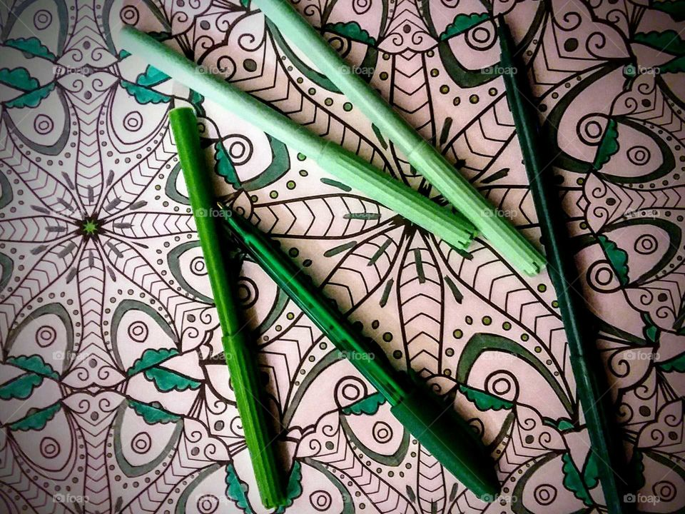 Green Markers Coloring