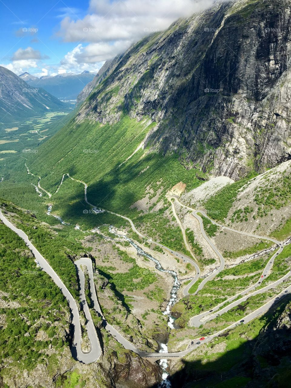 Summer hike to Trollstigen in Norway