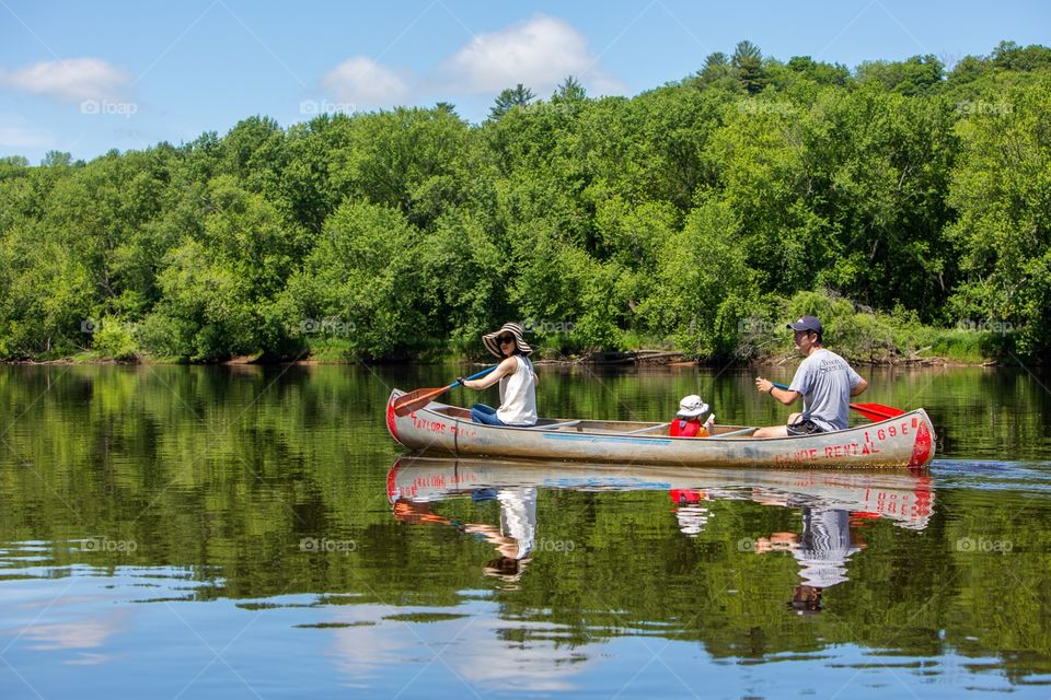 canoe down the st croix river