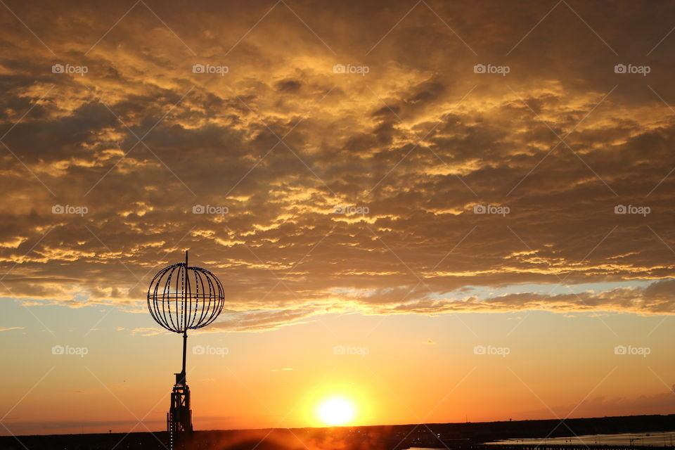 Sunset in Ocean City Maryland- ViewBug from the Farris wheel.