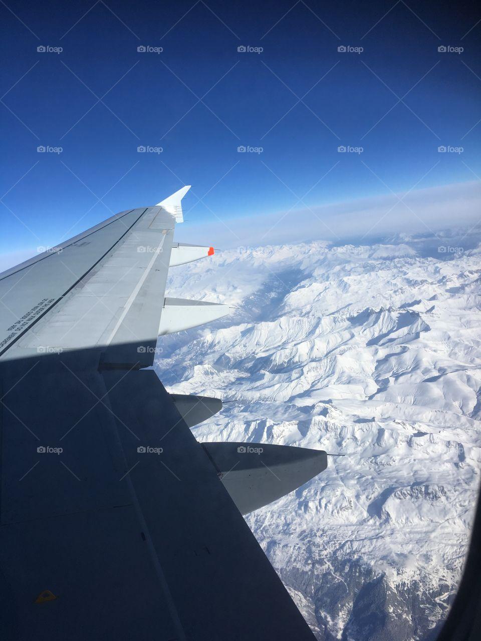 Les montagnes vues du ciel