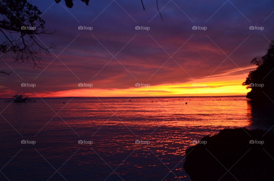 beach sunset scenery boracay by hunter_dude99
