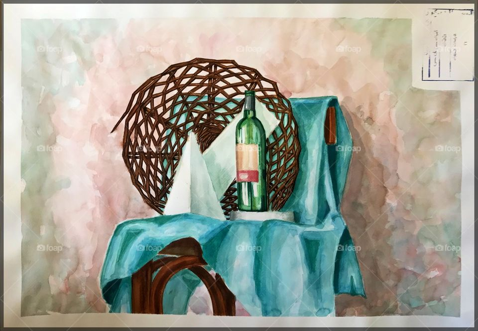 My own Art work with Watercolors, Still Life. Would love to know ur opinion ❤️